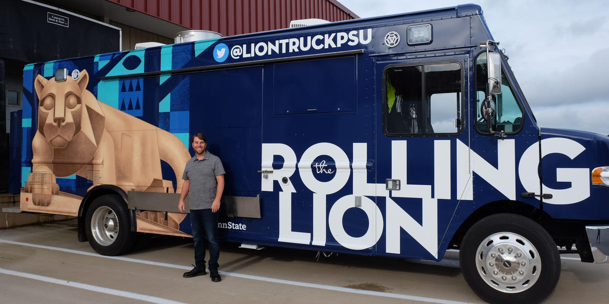 Art Director Andy Heckathorne and the Rolling Lion