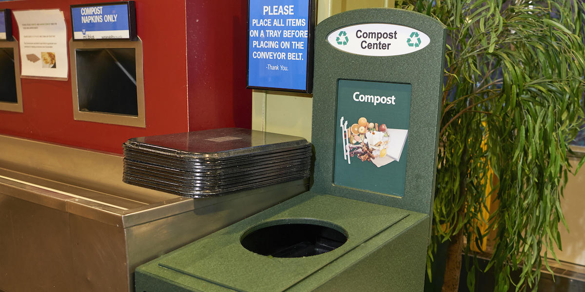 Compost station in Warnock